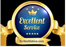 RHC Hosting - Excellent Service Award from HostAdvice